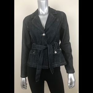 BACCINI denim jacket size PM dark wash